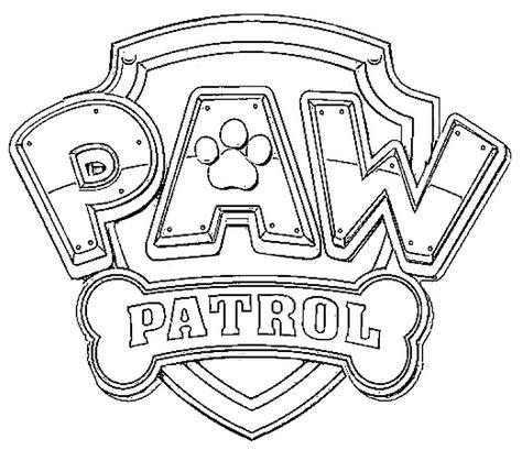 Kleurplaat Paw Patrol Logo by Paw Patrol Logo Coloring Page Az Coloring Pages