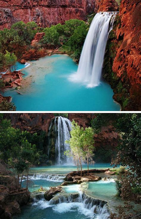 Havasu Falls In Havasupai Grand Canyon Places To
