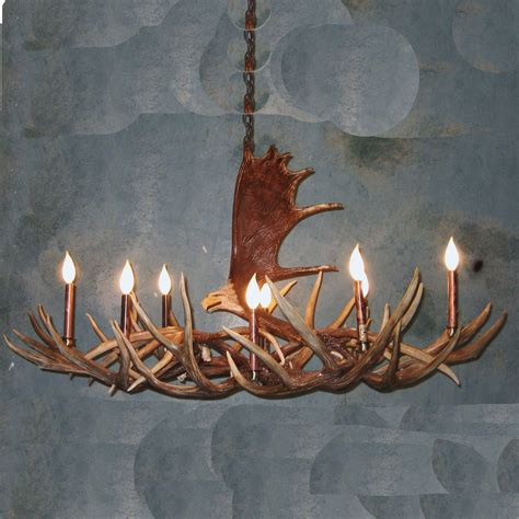 moose antler eagle mule deer chandelier
