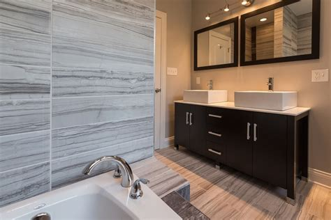 European Bathroom Cabinets by Contemporary Master Bathroom With Sink Flush High