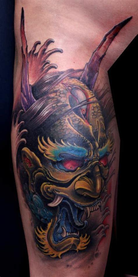 oni mask tattoos designs ideas  meaning tattoos
