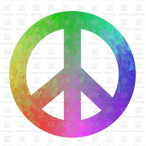 colored signs colored peace sign isolated on white background vector