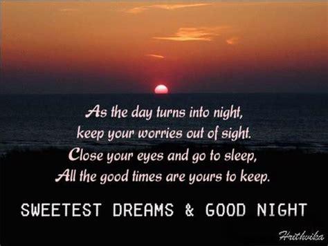 day turns  night  good night ecards