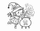 Brujita Witch Strega Pintar Dibujos Brujas Coloring Colorare Colorear Pozione Piccola Disegno Dibuixos Fantasma Flying Broomstick Bruixeta Amb Acolore Potion sketch template