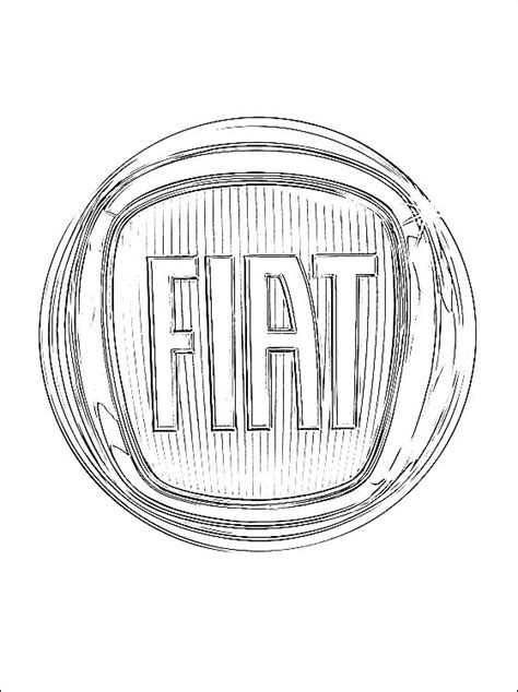 Fiat Panda Kleurplaat by Kleurplaten Fiat Logo Gratis Kleurplaten