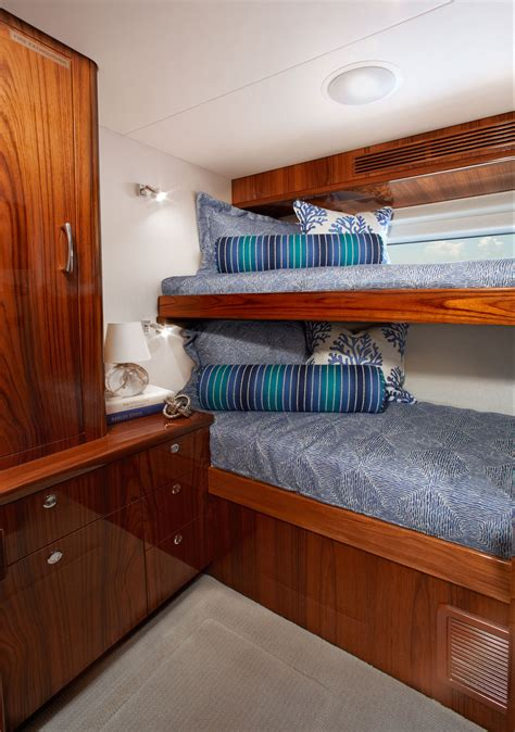 Fishing Boat Interior Ideas by Differing Shades Of Blue Hatteras Yachts 70gt