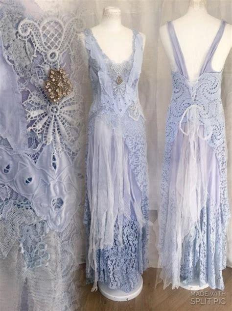 light blue boho wedding dress airy romantic feminine