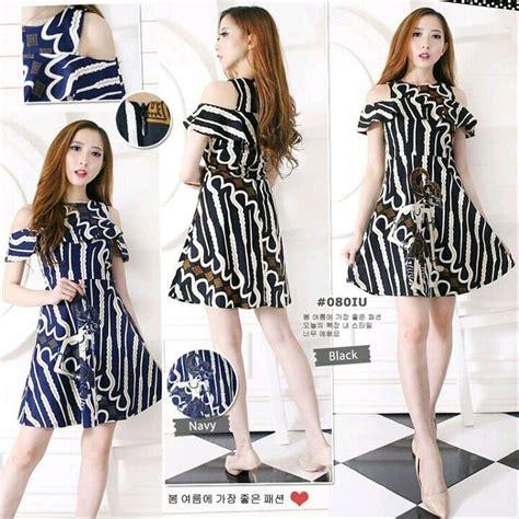 model baju dress batik sabrina gamis brokat