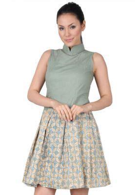 Dress Lita Hijau ozzy batik dress batik hijau mini dress batik dress