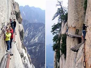 China's insane cliff path: the Chang Kong Cliff Road ...