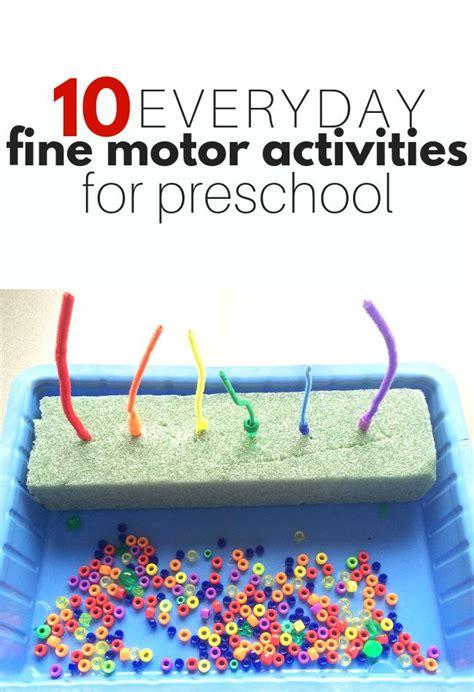everyday fine motor activities  preschool  time
