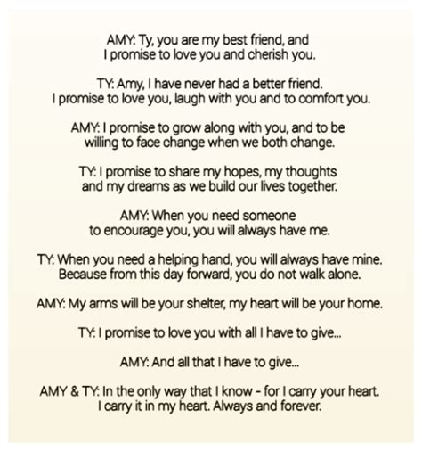 amy tys wedding vowssome    beautiful vows
