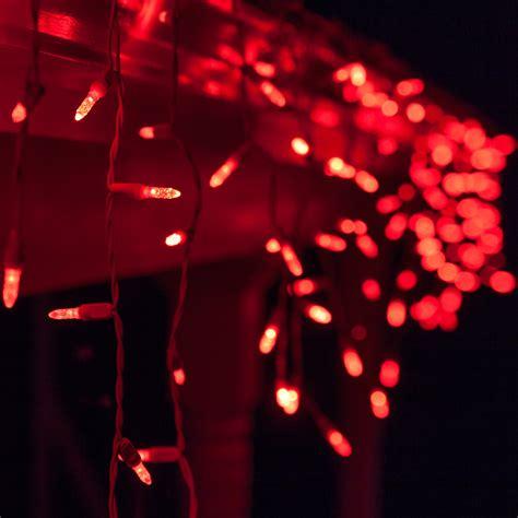 led christmas lights   red led icicle lights