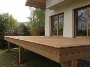 terrasse en bois exotique ipe sur pilotis et escalier With terrasse bois sur pilotis