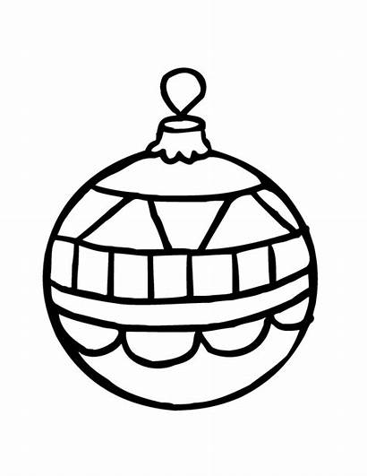 Ornament Christmas Coloring Outline Pages Printable Number