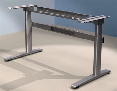 Motorized Standing Desk Frame by Electric Sit Standing Desk Frame 2 Sizes Linak Mech