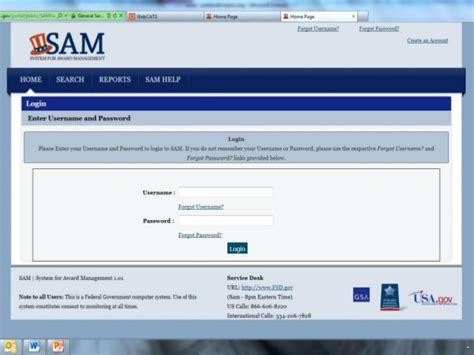 sam gov help desk system for award management level 1 p dotter 031009