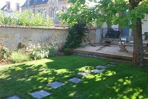 paysagiste a auxerrecreation de jardin bassin terrasse With jardins et terrasses photos