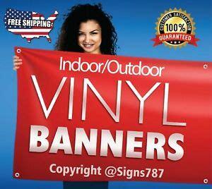 custom vinyl banner oz full color  design