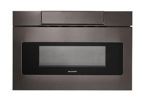 sharp drawer microwave 24 smd2470ah 24 quot black stainless steel microwave drawer