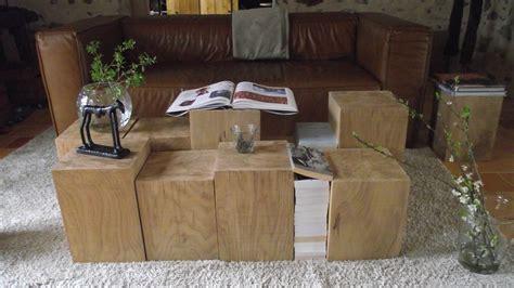 bout de canapé en bois bout de canapé 25x25x30cm bois chêne massif bûche en chêne