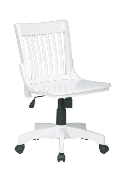 armless wood bankers chair espresso office osp designs 101wht deluxe armless wood banker