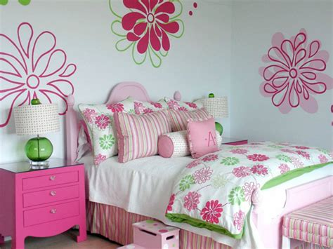 Pink And Green Girl's Bedding-contemporary-girl's Room