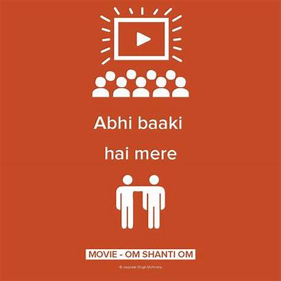 Bollywood Dialogues Funny Quotes Posters Dialogue Indian