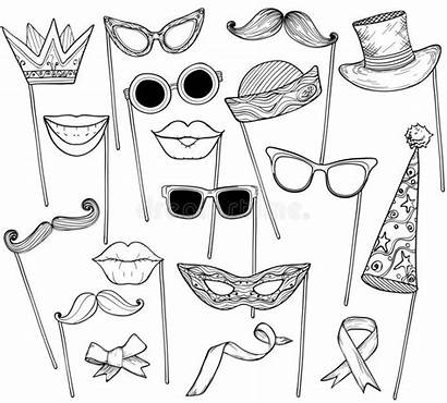 Props Booth Sketch Vector Holiday Halloween Mustache