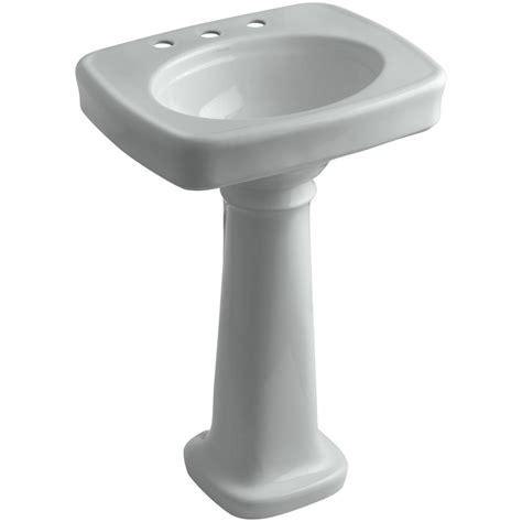 Home Depot Kohler Bancroft Pedestal Sink by Kohler Bancroft Vitreous China Pedestal Combo Bathroom