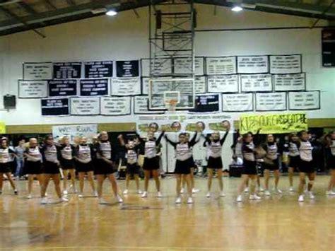 pilgrim high school  pep rally cheerleaders youtube