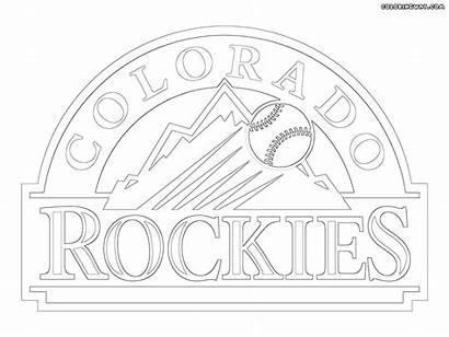 Mlb Coloring Logos Coloradorockies