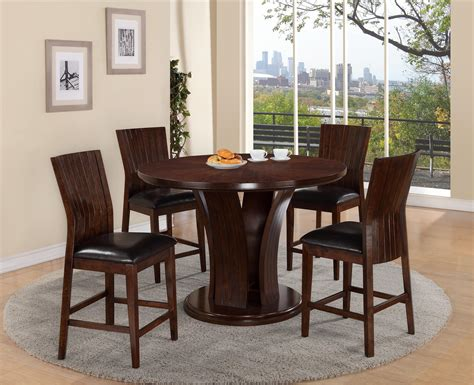 Crown Mark Daria Round Pub Height Dining Table And Stool