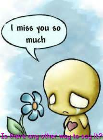 I Miss You Emo Cartoons