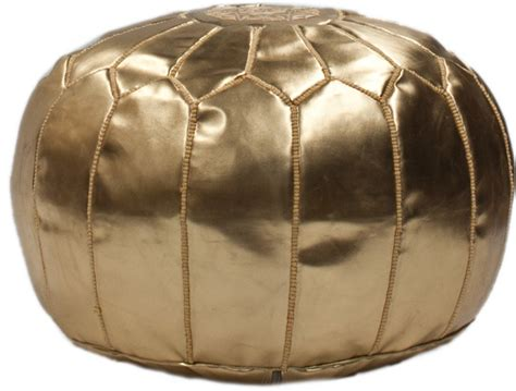 Gold Ottoman Pouf by Moroccan Pouf Ottoman Style Options