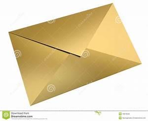 gold envelope stock illustration image of delivery paper With gold letter envelopes