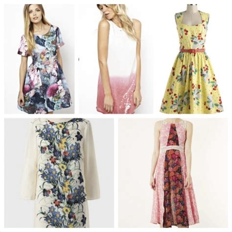 bridal guest fashion for three summer themed weddings