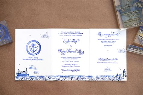 Diy Tutorial Stamped Nautical Trifold Wedding Invitation. Jewish Wedding Invitations Melbourne. Wedding Packages In Indiana. Plan Your Wedding By Color. Wedding Photo Studio Jb