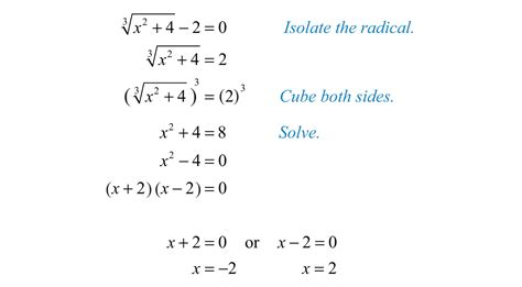 how to do simple radical form solving radical equations
