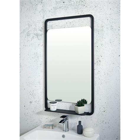 Bathroom Mirrors Black Frame by Shield Mono Black Bathroom Mirror With Shelf