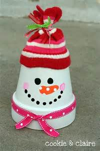 christmas crafts teaching ideas pinterest christmas crafts clay pots and snowman