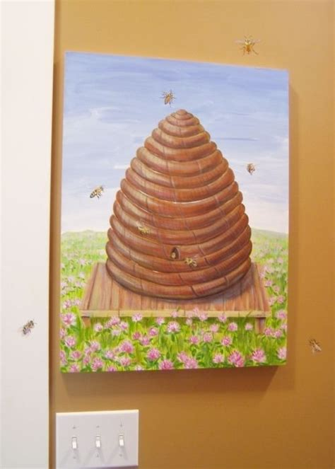 Hand Crafted Fuse Box Cover Custom Painting Beehive