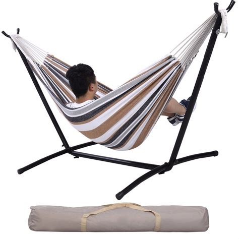 Hammock Carry by Hammock With Space Saving Steel Stand Includes