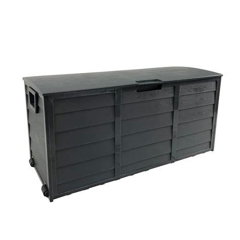 Dark Grey Waterproof Large Outdoor Storage Box 290