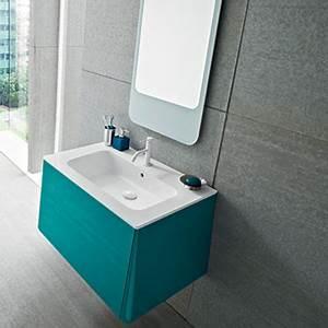 meuble salle de bain bleu turquoise With meuble salle de bain bleu lagon
