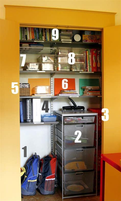 Homeschool Closet Organization Ideas by Homeschool Room Closet
