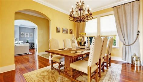 rustic paint colors for dining room small grey farmhouse decorating yellow color table for