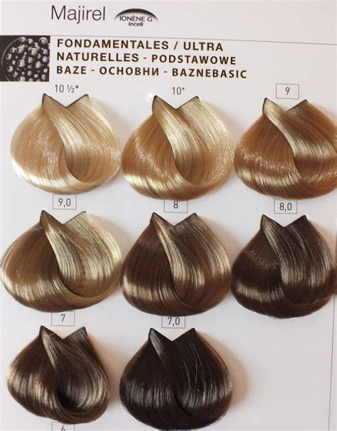 loreal majirel color chart  jas hair color chart
