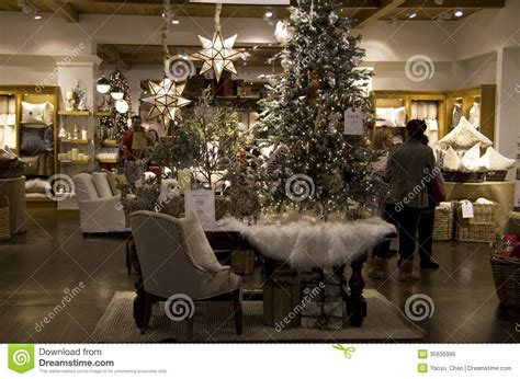 Fortunoff Christmas Tree Shop by Christmas Trees Home Goods Decor Store Editorial Image