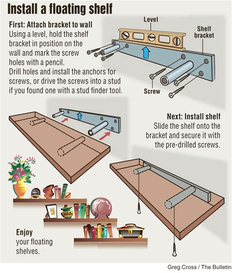 how to mount a shelf diy install floating shelf project is remarkably simple